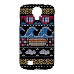 Ugly Summer Ugly Holiday Christmas Black Background Samsung Galaxy S4 Classic Hardshell Case (pc+silicone) by Onesevenart