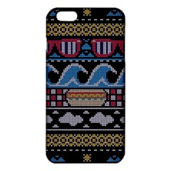 Ugly Summer Ugly Holiday Christmas Black Background Iphone 6 Plus/6s Plus Tpu Case by Onesevenart