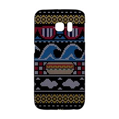 Ugly Summer Ugly Holiday Christmas Black Background Galaxy S6 Edge by Onesevenart
