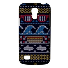 Ugly Summer Ugly Holiday Christmas Blue Background Galaxy S4 Mini by Onesevenart