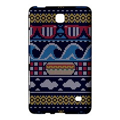 Ugly Summer Ugly Holiday Christmas Blue Background Samsung Galaxy Tab 4 (8 ) Hardshell Case  by Onesevenart
