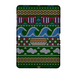 Ugly Summer Ugly Holiday Christmas Green Background Samsung Galaxy Tab 2 (10 1 ) P5100 Hardshell Case
