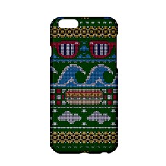 Ugly Summer Ugly Holiday Christmas Green Background Apple Iphone 6/6s Hardshell Case by Onesevenart