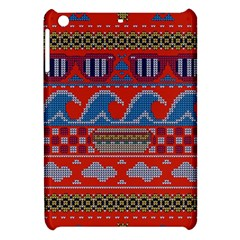 Ugly Summer Ugly Holiday Christmas Red Background Apple Ipad Mini Hardshell Case by Onesevenart