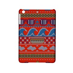 Ugly Summer Ugly Holiday Christmas Red Background Ipad Mini 2 Hardshell Cases by Onesevenart