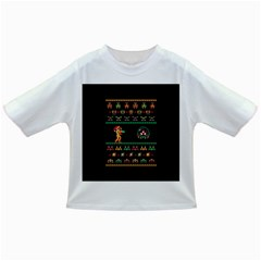 We Wish You A Metroid Christmas Ugly Holiday Christmas Black Background Infant/toddler T Shirts by Onesevenart