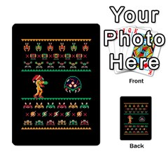 We Wish You A Metroid Christmas Ugly Holiday Christmas Black Background Multi Purpose Cards (rectangle)  by Onesevenart