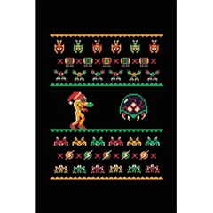We Wish You A Metroid Christmas Ugly Holiday Christmas Black Background 5 5  X 8 5  Notebooks by Onesevenart