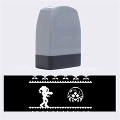 We Wish You A Metroid Christmas Ugly Holiday Christmas Black Background Name Stamps by Onesevenart