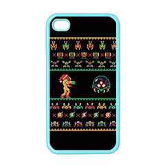 We Wish You A Metroid Christmas Ugly Holiday Christmas Black Background Apple Iphone 4 Case (color) by Onesevenart