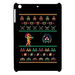 We Wish You A Metroid Christmas Ugly Holiday Christmas Black Background Apple Ipad Mini Hardshell Case by Onesevenart