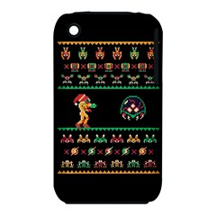 We Wish You A Metroid Christmas Ugly Holiday Christmas Black Background Apple Iphone 3g/3gs Hardshell Case (pc+silicone) by Onesevenart