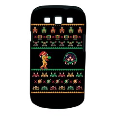 We Wish You A Metroid Christmas Ugly Holiday Christmas Black Background Samsung Galaxy S Iii Classic Hardshell Case (pc+silicone) by Onesevenart