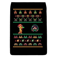 We Wish You A Metroid Christmas Ugly Holiday Christmas Black Background Flap Covers (s)  by Onesevenart