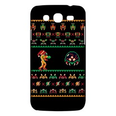 We Wish You A Metroid Christmas Ugly Holiday Christmas Black Background Samsung Galaxy Mega 5 8 I9152 Hardshell Case  by Onesevenart