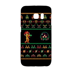 We Wish You A Metroid Christmas Ugly Holiday Christmas Black Background Galaxy S6 Edge by Onesevenart