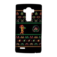 We Wish You A Metroid Christmas Ugly Holiday Christmas Black Background Lg G4 Hardshell Case by Onesevenart