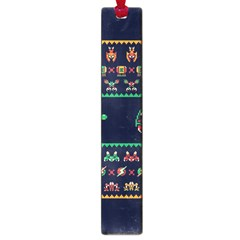 We Wish You A Metroid Christmas Ugly Holiday Christmas Blue Background Large Book Marks by Onesevenart
