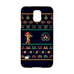 We Wish You A Metroid Christmas Ugly Holiday Christmas Blue Background Samsung Galaxy S5 Hardshell Case  by Onesevenart