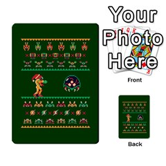 We Wish You A Metroid Christmas Ugly Holiday Christmas Green Background Multi Purpose Cards (rectangle)  by Onesevenart