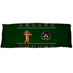 We Wish You A Metroid Christmas Ugly Holiday Christmas Green Background Body Pillow Case Dakimakura (two Sides) by Onesevenart