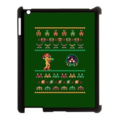 We Wish You A Metroid Christmas Ugly Holiday Christmas Green Background Apple Ipad 3/4 Case (black) by Onesevenart