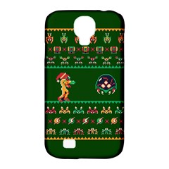 We Wish You A Metroid Christmas Ugly Holiday Christmas Green Background Samsung Galaxy S4 Classic Hardshell Case (pc+silicone) by Onesevenart