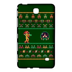 We Wish You A Metroid Christmas Ugly Holiday Christmas Green Background Samsung Galaxy Tab 4 (8 ) Hardshell Case  by Onesevenart