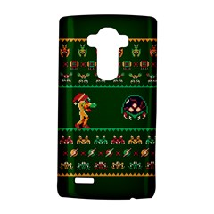 We Wish You A Metroid Christmas Ugly Holiday Christmas Green Background Lg G4 Hardshell Case by Onesevenart