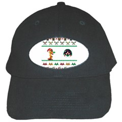 We Wish You A Metroid Christmas Ugly Holiday Christmas Black Cap by Onesevenart
