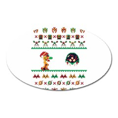 We Wish You A Metroid Christmas Ugly Holiday Christmas Oval Magnet by Onesevenart