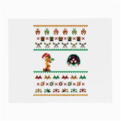 We Wish You A Metroid Christmas Ugly Holiday Christmas Small Glasses Cloth (2 Side) by Onesevenart
