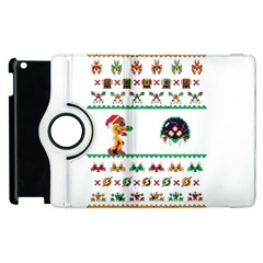 We Wish You A Metroid Christmas Ugly Holiday Christmas Apple Ipad 2 Flip 360 Case by Onesevenart