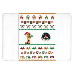 We Wish You A Metroid Christmas Ugly Holiday Christmas Samsung Galaxy Tab 8 9  P7300 Flip Case by Onesevenart
