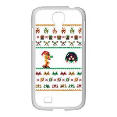 We Wish You A Metroid Christmas Ugly Holiday Christmas Samsung Galaxy S4 I9500/ I9505 Case (white) by Onesevenart