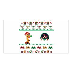 We Wish You A Metroid Christmas Ugly Holiday Christmas Satin Shawl by Onesevenart