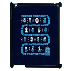 Who Is Outside Ugly Holiday Christmas Blue Background Apple Ipad 2 Case (black)