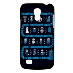 Who Is Outside Ugly Holiday Christmas Blue Background Galaxy S4 Mini by Onesevenart