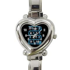 Who Is Outside Ugly Holiday Christmas Black Background Heart Italian Charm Watch by Onesevenart