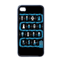 Who Is Outside Ugly Holiday Christmas Black Background Apple Iphone 4 Case (black) by Onesevenart