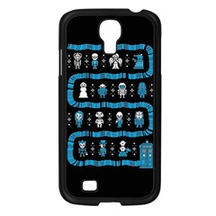 Who Is Outside Ugly Holiday Christmas Black Background Samsung Galaxy S4 I9500/ I9505 Case (black) by Onesevenart