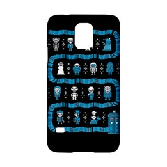 Who Is Outside Ugly Holiday Christmas Black Background Samsung Galaxy S5 Hardshell Case  by Onesevenart