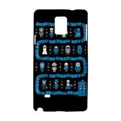 Who Is Outside Ugly Holiday Christmas Black Background Samsung Galaxy Note 4 Hardshell Case by Onesevenart