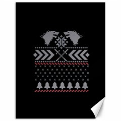 Winter Is Coming Game Of Thrones Ugly Christmas Black Background Canvas 12  X 16   by Onesevenart
