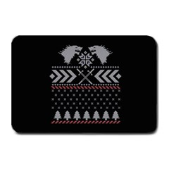 Winter Is Coming Game Of Thrones Ugly Christmas Black Background Plate Mats by Onesevenart
