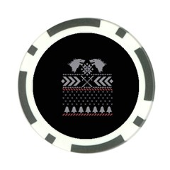 Winter Is Coming Game Of Thrones Ugly Christmas Black Background Poker Chip Card Guards by Onesevenart