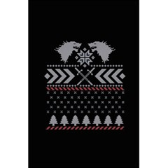 Winter Is Coming Game Of Thrones Ugly Christmas Black Background 5 5  X 8 5  Notebooks by Onesevenart