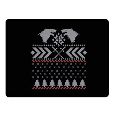 Winter Is Coming Game Of Thrones Ugly Christmas Black Background Fleece Blanket (small) by Onesevenart