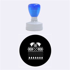 Winter Is Coming Game Of Thrones Ugly Christmas Black Background Rubber Round Stamps (medium) by Onesevenart