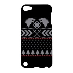 Winter Is Coming Game Of Thrones Ugly Christmas Black Background Apple Ipod Touch 5 Hardshell Case by Onesevenart